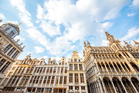 Praça central da cidade de Bruxelas Foto de archivo - 81147642