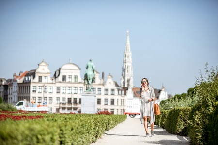 comunication: Businesswoman in Brussels