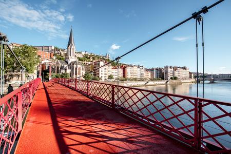 Lyon city in France Imagens