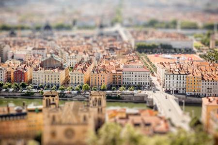 Cidade de Lyon na França Foto de archivo - 81452843