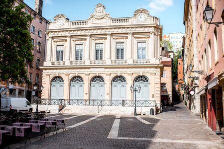 Lyon Stadt in Frankreich Standard-Bild - 81408896