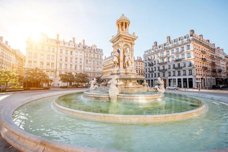 Lyon city in France 写真素材
