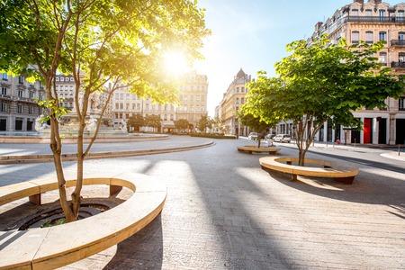 Ville de Lyon en France Banque d'images - 81408903