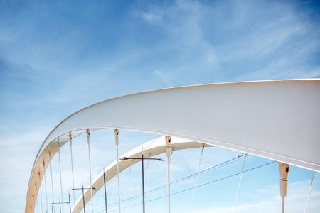 Modern bridge on the sky background Stock Photo