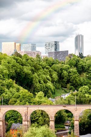 De oude stad van Luxemburg stad Stockfoto - 81359522