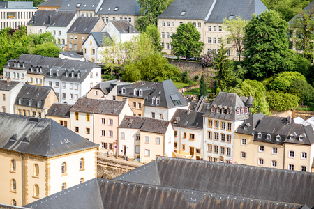 De oude stad van Luxemburg stad Stockfoto - 81454398