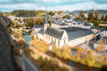 The old town of Luxembourg city Banco de Imagens