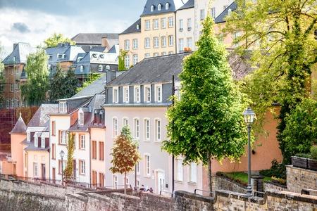 De oude stad van Luxemburg stad Stockfoto - 81473078