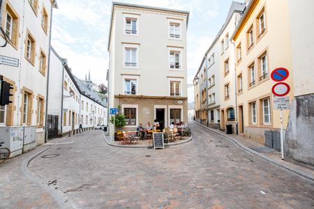 De oude stad van Luxemburg stad Stockfoto - 81679629