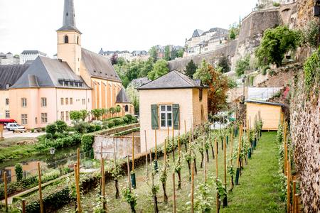 De oude stad van Luxemburg stad Stockfoto - 81473020