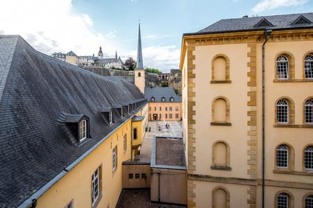 De oude stad van Luxemburg stad Stockfoto - 81454934