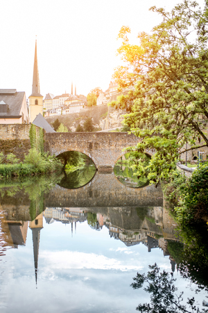 The old town of Luxembourg city Stock fotó