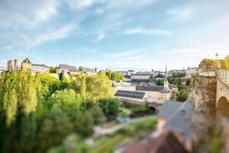 The old town of Luxembourg city 版權商用圖片
