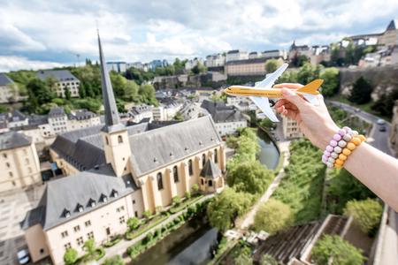Reizen naar Luxemburg Stockfoto - 81482595