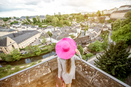 Woman traveling in Luxembourg