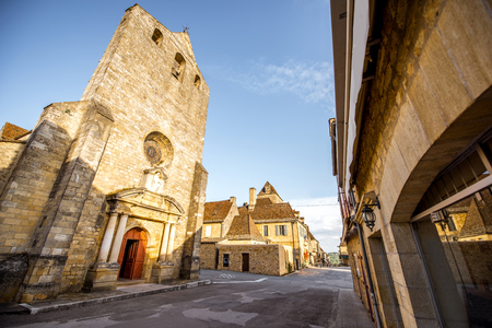 Domme village in France Stock Photo