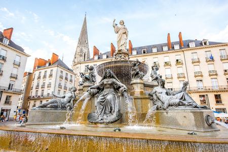 De stad van Nantes in Frankrijk