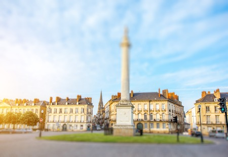 Nantes city in France