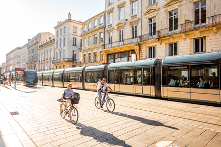 street view of Bordeaux city Editorial