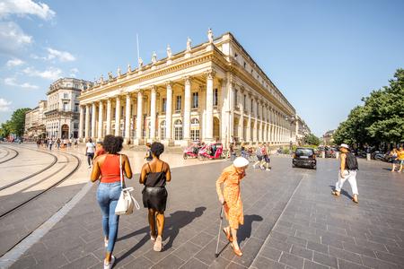 Uitzicht op de stad Bordeaux
