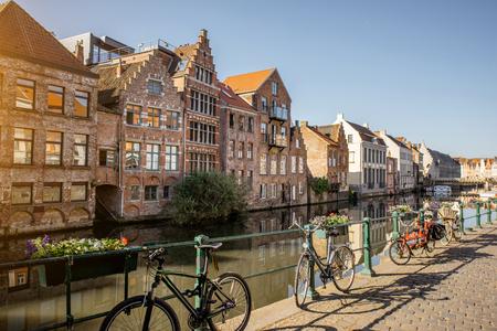 Gent Stadt in Belgien Standard-Bild - 81933615