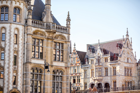 Gent stad in België Stockfoto - 81933727