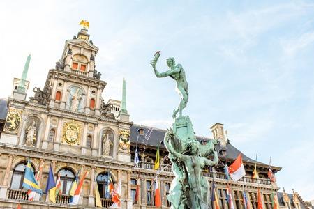 ベルギーのアントワープ市 写真素材