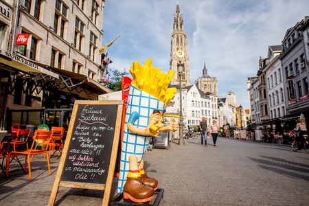 street view at Antwerpen city