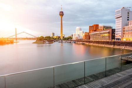 De stad van Dusseldorf in Duitsland Stockfoto