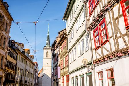 ドイツのエアフルト市 写真素材