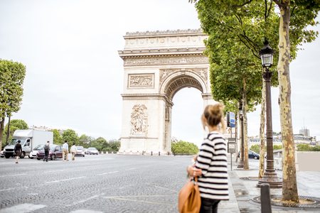 Business woman in Paris Stock Photo