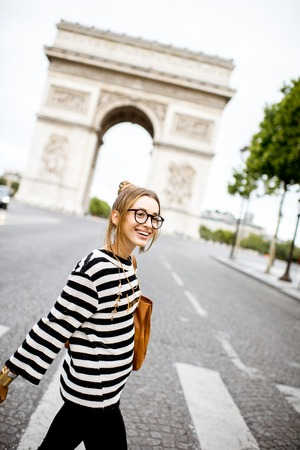 Business woman in Paris Stock Photo - 84612420