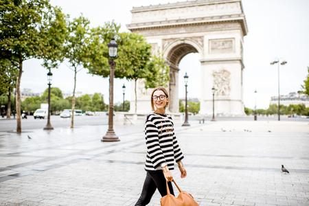 Business woman in Paris Imagens