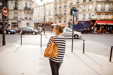 Woman walking in Paris
