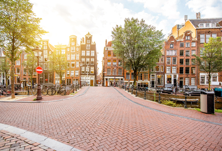 암스테르담 풍경보기 스톡 콘텐츠