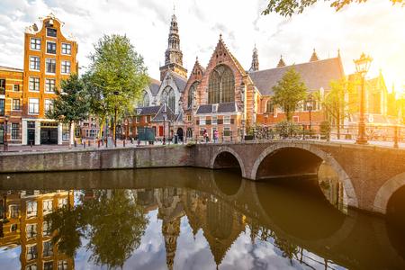 アムステルダム都市景観ビュー 写真素材