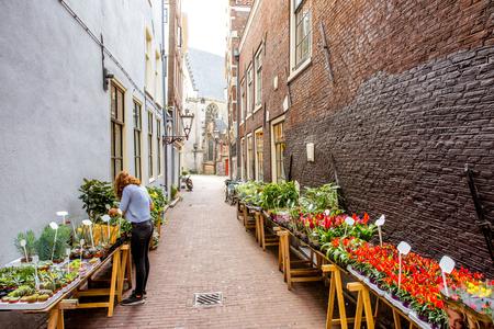 Amsterdam stadszicht Stockfoto