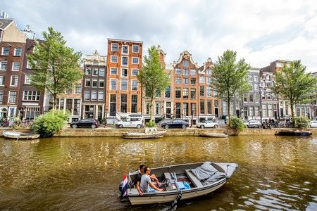 Amsterdam city view Editorial
