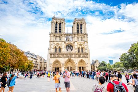 De kerk van Notre Dame in Parijs