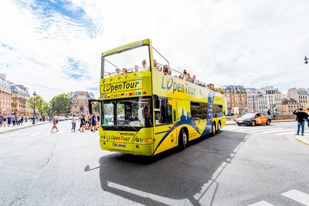 Tourist bus in Paris