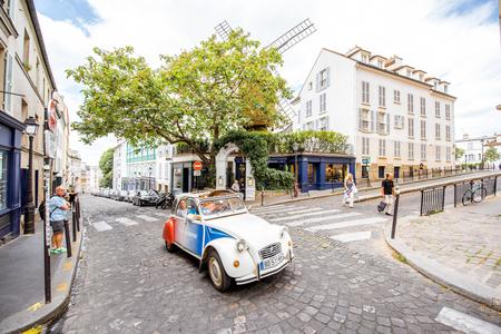 Streete view in Paris Editorial