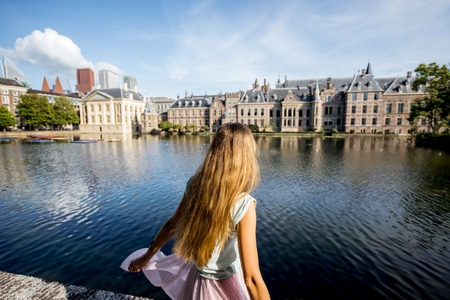 Woman in Haag, Netherlands