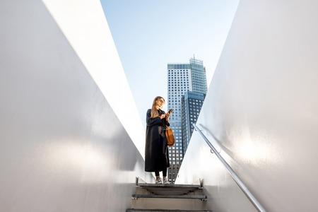 Woman in Rotterdam city