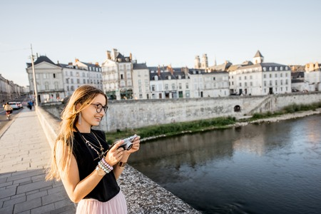 Woman traveling in Orleans, France Stock Photo - 85120286