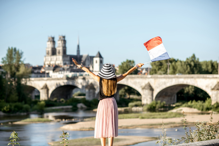 Woman traveling in Orleans, France Stock Photo - 85120223