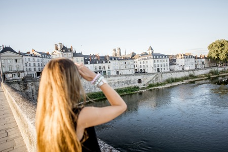 Woman traveling in Orleans, France Stock Photo - 85131500