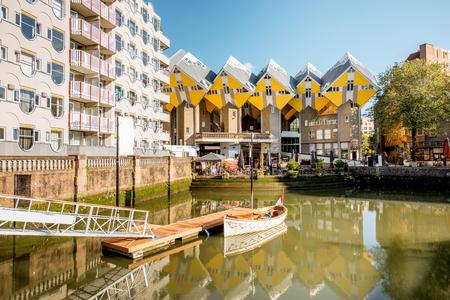 Rotterdam city in Netherlands Stock Photo