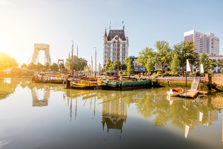 Rotterdam city in Netherlands Stock Photo