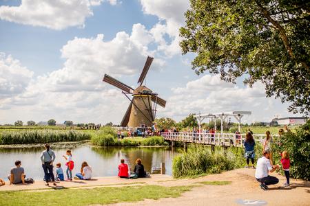 Old windmills in Netherlands Sajtókép