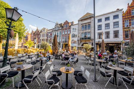 Oude stad in Haag stad Redactioneel